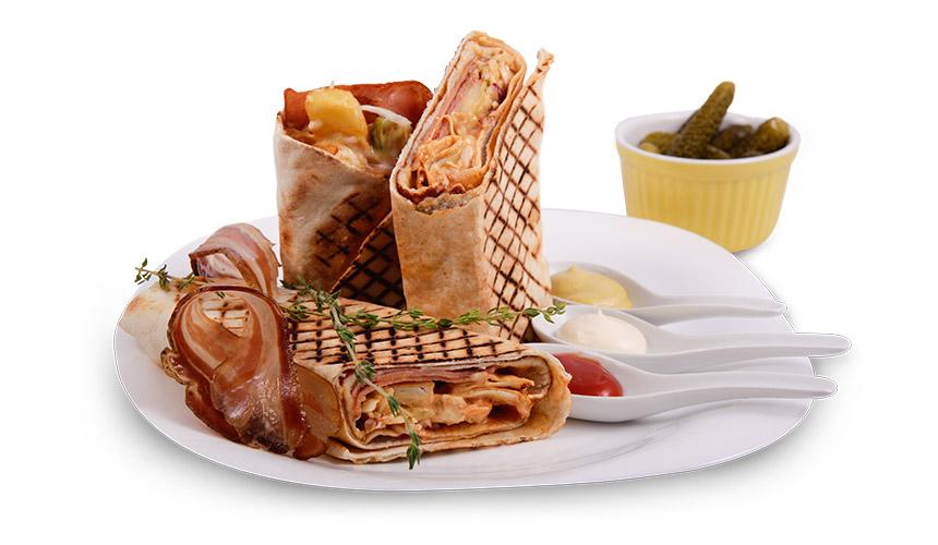 Грил сандвич: Бекон и кашкавал