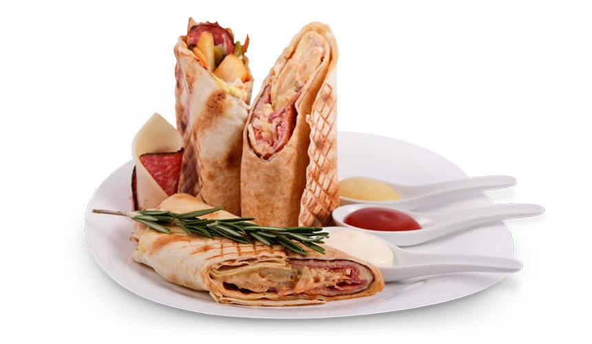 Грил сандвич: Луканка и кашкавал