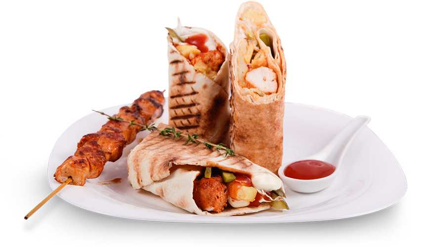 Грил сандвич: Пилешко печено