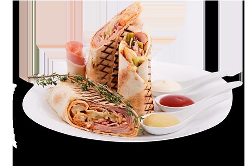 Грил сандвич: Шунка и кашкавал
